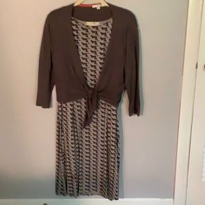 Boden gray dress with cardigan